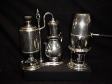 Two antique coffee makers nineteenth century 1 x H. Eicke Berlin 1 x unknown