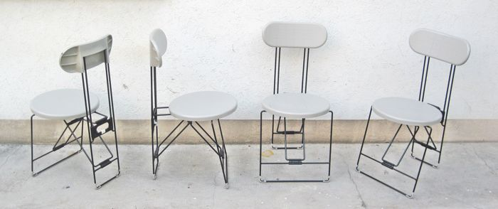 Andries van Onck for Magis – 4 'Cricket' folding chairs - Grey colour
