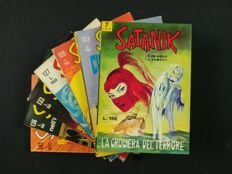 Satanik - lot of 7x albums - issues nos. 7, 103, 105, 127, 133, 136, 142 (1965-70)