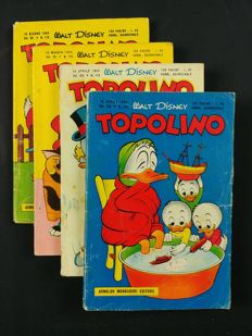 Walt Disney, Topolino album, issues nos. 112-113-115-116 (1956)