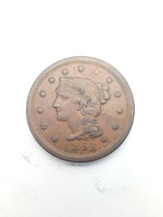 United States - 1 Cent 1851 'Braided Hair' - copper