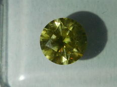 Diamond – Natural Fancy Intense Yellowish Green – 1.14 ct – SI1 – No Reserve