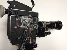 Bolex Rex 5 reflex 16mm camera with Kern Paillard 18-86 f2.5 zoom lens Vario Switar, Grip and Rex-o-Fader