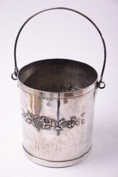 Silver ice bucket, silver title 800, Brandimarte, Florence, 1968