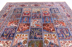 Rare Persian carpet images Kashmar hangind gardens of Babylon carpet 3.80 x 3.05 Orient carpet GREAT CONDITION RARE