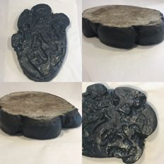 African Elephant Foot-print, cast in concrete - 42 x 30 x 5cm - 11 kg
