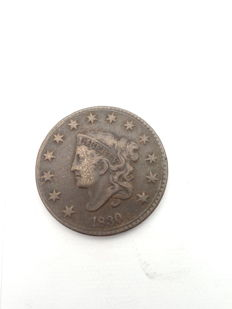 United States - 1 Cent 1830 'Coronet Head' large Letters - Copper