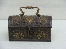 A renaissance-style bronze box, France, ca. 1900