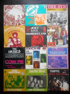 Nice lot of 12 x 45rpm from the 70's : The Syn, The Doors, Steppenwolf, Traffic and others..
