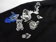 Swarovski - Siamese fighting fish - mouse - bear - squirrel - duck - rhinoceros - sparrow - seahorse
