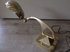Art Nouveau brass desk lamp