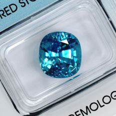 Intense blue zircon - 8.61 ct