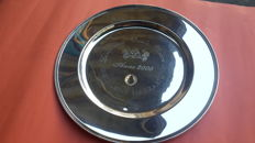 Silver Plate with Engravings Rossi & Arcandi Silversmith, year 2000
