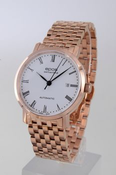 Epos - Rose gold plated with automatic movement  - 3387-S/S-RG-WHT/BLK - Homme - 2011-aujourd'hui
