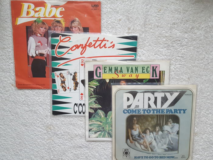 Lot of  80 Vinyl singles Disco / Dance with special items Babe, Gemma van Eck, Confetti's & Party
