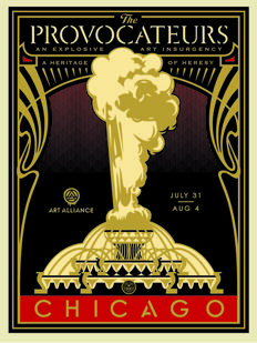 Shepard Fairey (OBEY) - The Provocateurs (Gold)