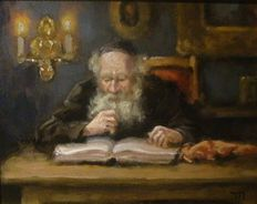 "Unknown (20/21 century) -""Old man with book"""