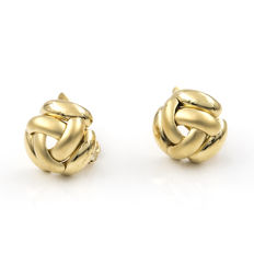 Yellow gold 18 kt (750/1000) - Earrings - Earring height: 14.75 mm.
