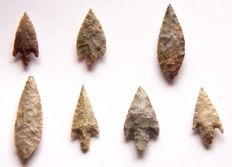 Lot with 7 arrowheads from Niger - 64 - 20 mm (7)