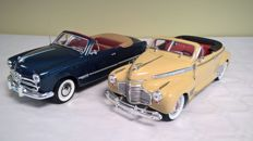 Eagle / Mira - Scale 1/18 - Lot of 2 Popular Convertible Americans from the 1940s: Chevrolet Deluxe 1941 and Ford 1949