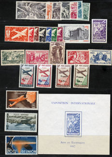 Réunion 1883-1903 – Collection including Airmail and Free France - between Yvert 17 and 69