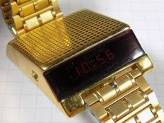 Bulova Computron - LED Redlight - All Plated - Car watch - 1970 - Men's Wristwatch