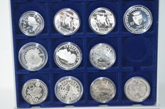 Europe - pre-Euros 1996/1998 (11 different) - silver