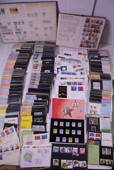 Word 1870/1990 - batch of stamps, FDCs, folders, etc., in removal box
