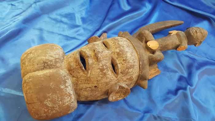 Rare African wooden mask old
