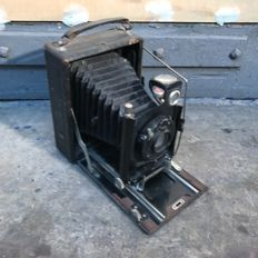 Vario 9 x 12 bellows / plate camera with welta doppel lens