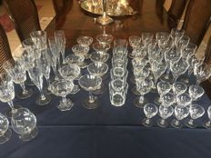 An extensive Val Saint Lambert crystal glass service, 60 pieces, Belgium, second half 20th century