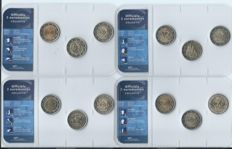 Europe - various commemorative 2 euro coins (42 coins) in packaging