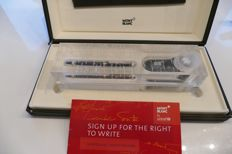 """Montblanc Meisterstück 149 fountain pen Unicef limited edition - Helmut Jahn - """"Sign up for the Right to write"""""""