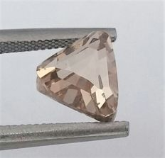 Modified TRIANGLE  - 2.00 carat  - Natural Fancy Champagne - VS1 clarity  - Natural Diamond  Comes With AIG Certificate + Laser Inscription