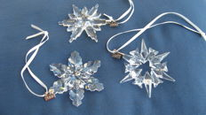 Lot 3 Swarovski Christmas stars 2006 - 2007 - 2008