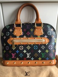 Louis Vuitton - Murakami Black Monogram Multicolor Alma Bag - Limited Edition