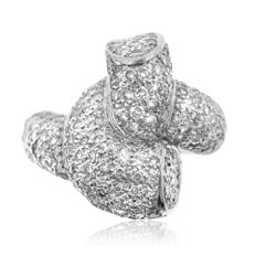 Massive 4.50ct Pavé-set Diamond Ring, as new.