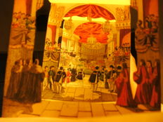 Napoleon's Coronation, Cathedral Notre Dame de Paris 1804 - Diorama / concertina on paper