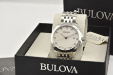 Bulova Diamonds ladies watch with diamonds. Casing and strap in steel and sapphire crystal.