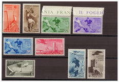 Kingdom of Italy, 1934 - Football World Cup - Complete Series - Sassone Nos.  357-361 and A69-A72
