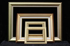Four wooden painted gilt picture frames - from the 1990s - France