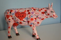 Cow Parade -  I Love Man - No longer available in the current collection (retired).