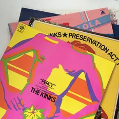 The Kinks, lot of 5 rare records including Percy, Encore and Preservation Act 1