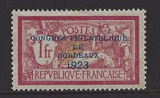 France 1923 - Congres Bordeaux - Yvert 182