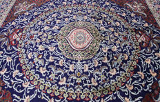 Extraordinarily beautiful Persian carpet, Mashhad, 3.75 x 3.00 genuine hand-knotted oriental carpet, top condition, no. 165