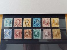 The Netherlands - Selection including NVPH 1 through 12 in cancelled/used condition, among others.