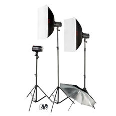GODOX MINI PIONEER 160 WATT KIT - 3 flash units! - New (2052)
