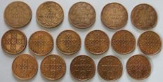 Portugal Monarchy & Republic - D. Luis I - Series X Reis 1882 to 1886 // Republic - Series 50 Centavos - 1969 to 1979