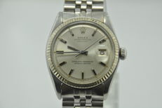 Rolex - Oyster Perpetual Datejust - White Gold Bezel - Automatic - Pie Pan Dial - Ref. 1601 - Herren - 1970-1979