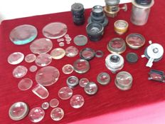 Various accessories: Lenses, Objectives, Projection lenses